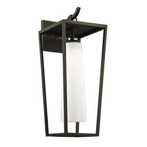 Turner Textured Black 23-Inch One-Light Outdoor Wall Sconce
