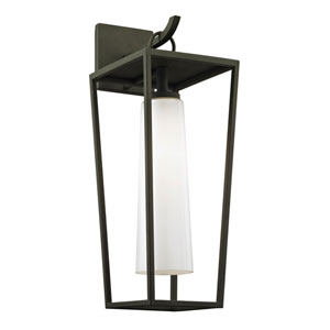 Turner Textured Black 20-Inch One-Light Outdoor Wall Sconce