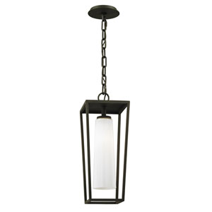 Turner Textured Black One-Light Outdoor Pendant