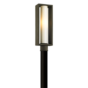 Yardley Textured Bronze One-Light Outdoor Post Mount