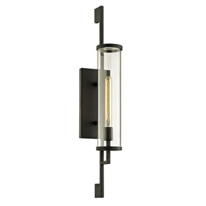 Batten Forged Iron 32-Inch One-Light Outdoor Wall Sconce