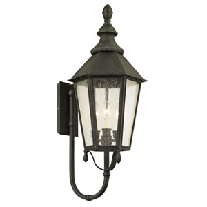 Byron Vintage Iron Three-Light Outdoor Wall Sconce