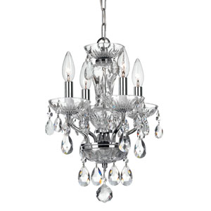 Wellington Chrome 11-Inch Four-Light Mini Chandelier