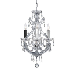 Wellington Chrome 12-Inch Four-Light Mini Chandelier