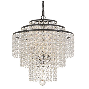 Vivian Bronze Three-Light Chandelier