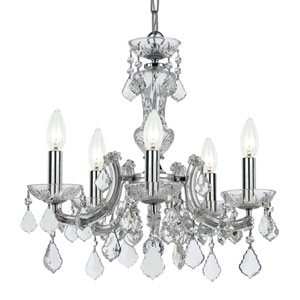 Wellington Chrome 20-Inch Five-Light Mini Chandelier