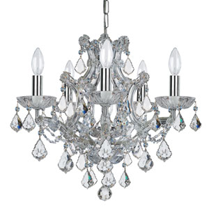 Wellington Chrome Six-Light Mini Chandelier