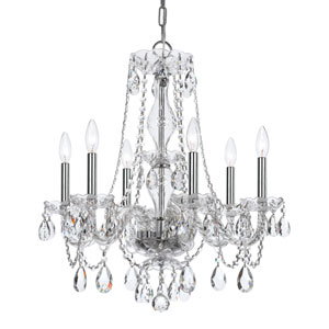 Wellington Chrome 23-Inch Six-Light Chandelier