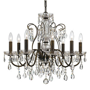Wellington Bronze 25-Inch Eight-Light Chandelier