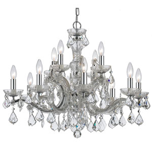 Wellington Chrome 30-Inch 12-Light Chandelier