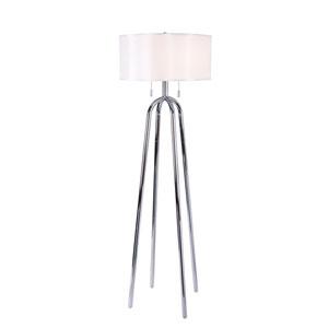 Uptown Chrome Two-Light Floor Lamp