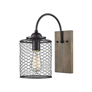 River Station Oil Rubbed Bronze One-Light Wall Sconce
