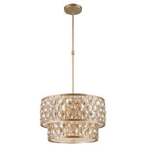 Vivian Matte Gold Nine-Light Pendant