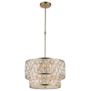 Vivian Champagne Nine-Light Pendant