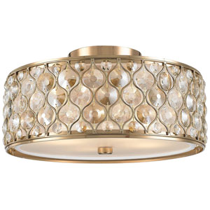 Vivian Champagne Four-Light Flush Mount