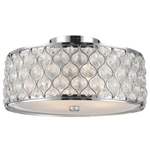 Vivian Polished Chrome Four-Light Flush Mount