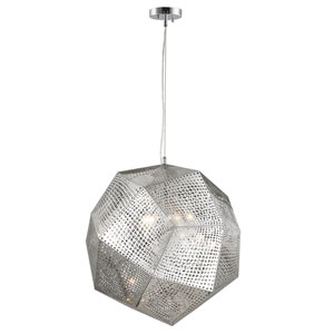 Uptown Chrome Five-Light Pendant