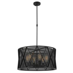 Fulton Matte Black Six-Light Pendant