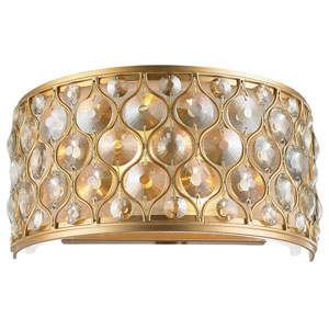 Vivian Matte Gold Two-Light Wall Sconce