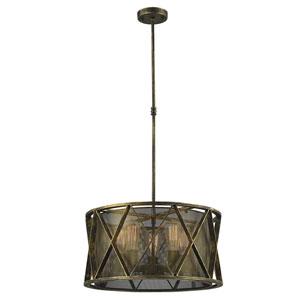 Fulton Antique Bronze Five-Light Pendant