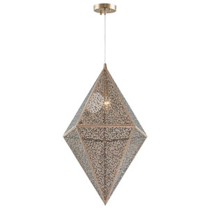 Uptown Rose Gold 14-Inch One-Light Pendant