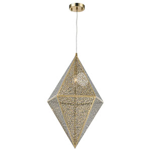 Uptown Champagne 14-Inch One-Light Pendant