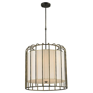 Nicollet Antique Bronze Nine-Light Pendant