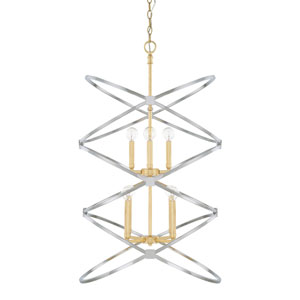 Cooper Gold and Silver Eight-Light Pendant