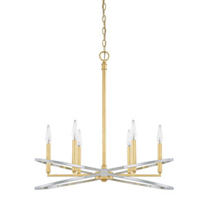 Cooper Gold and Silver Six-Light Chandelier