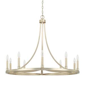 Linden Gold 10-Light Chandelier
