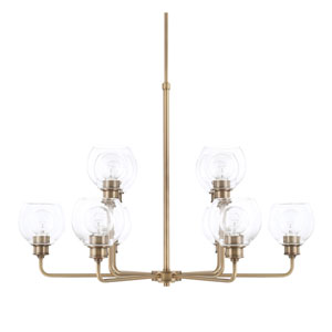 Nicollet Aged Brass 10-Light Chandelier