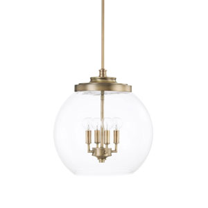 Nicollet Aged Brass Four-Light Pendant