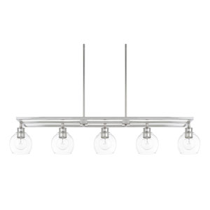 Nicollet Polished Nickel Five-Light Island Pendant