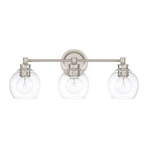 Nicollet Polished Nickel Three-Light Bath Vanity