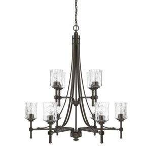 Evelyn Bronze 10-Light Chandelier