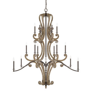 Wellington Bronze 18-Light Chandelier
