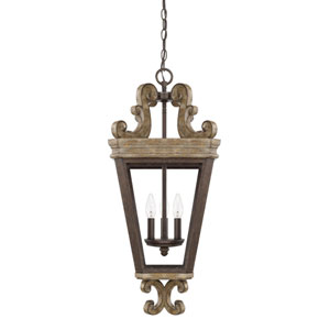 Wellington Bronze Three-Light Pendant