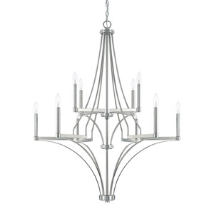Isles Polished Nickel 10-Light Chandelier