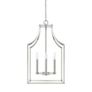 Isles Polished Nickel 27-Inch Four-Light Pendant