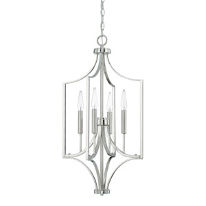 Isles Polished Nickel 29-Inch Four-Light Pendant