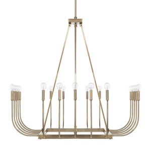 Loring Aged Brass 20-Light Chandelier
