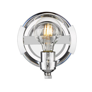 Uptown Chrome One-Light Bath Sconce