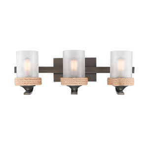 Afton Bronze Three-Light Bath Vanity