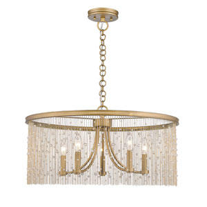 Vivian Gold 25-Inch Five-Light Chandelier