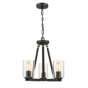 Evelyn Black Three-Light Chandelier