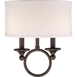Wellington Bronze Two-Light Wall Sconce