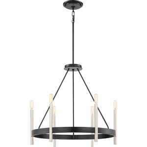 Uptown Black Six-Light Chandelier