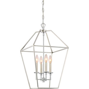 Kenwood Polished Nickel Four-Light Pendant