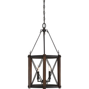 Afton Black Three-Light Pendant