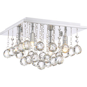 Vivian Polished Chrome 12-Inch Four-Light Flush Mount